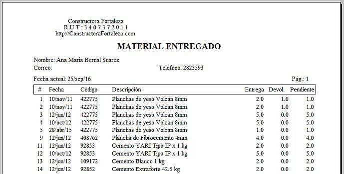 Software para almacén: Alvendi-CM