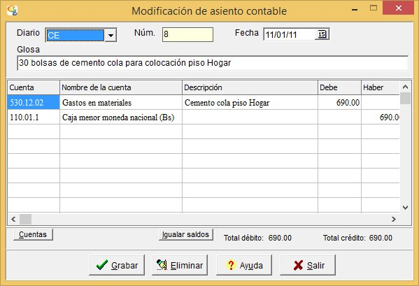 Contalux: Programa de contabilidad