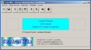 ControlWin 6: Programa para escuelas y colegios