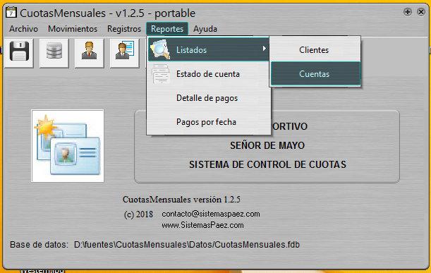 """Cobro de cuotas con """"Cuotas Mensuales"""""""