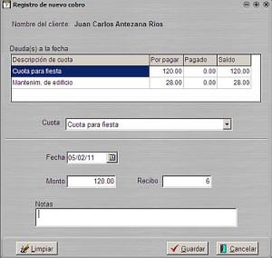 Cuotas-mensuales: Registro de pago de cuota