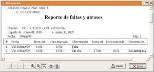 Doce - Reporte faltas atrasos