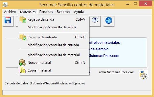 Control de bodega con Secomat