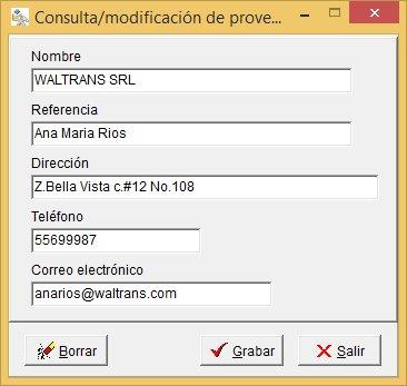 Registro de proveedores de Secomat