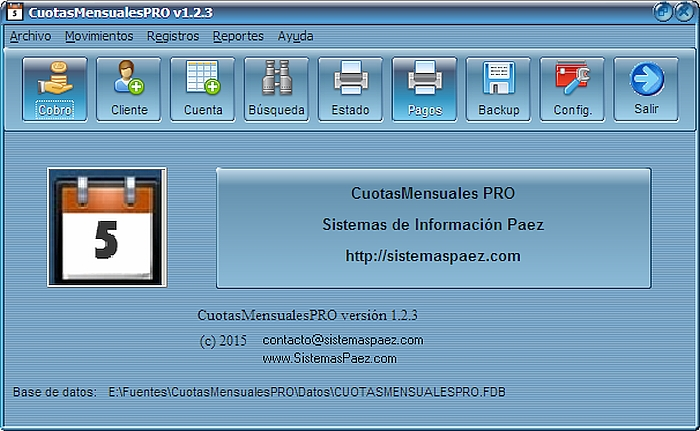 Programa de pagos periódicos: 'Cuotas Mensuales PRO'