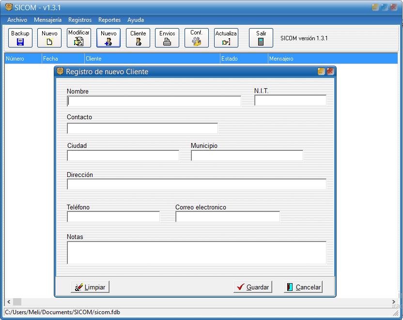 Actualización Sicom: Control de mensajería